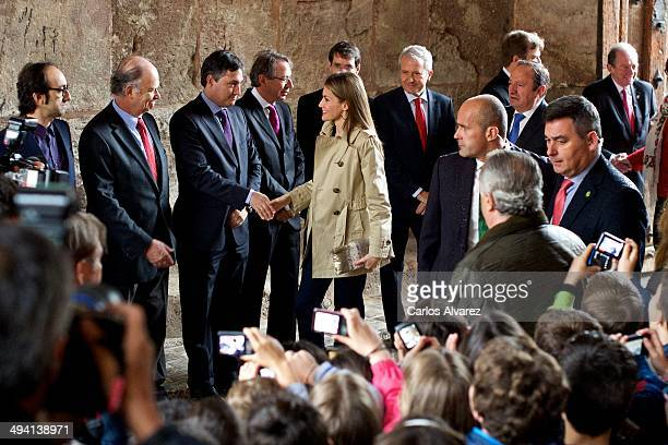 Princess Letizia of Spain attends the inauguration of the IX International Seminary about Language and Communication Media El Espanol del Futuro en...