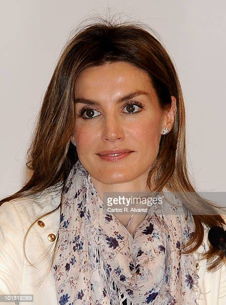 Princess Letizia of Spain attends the inauguration of the International Seminary about language and communication Media Journalists Teachers of...