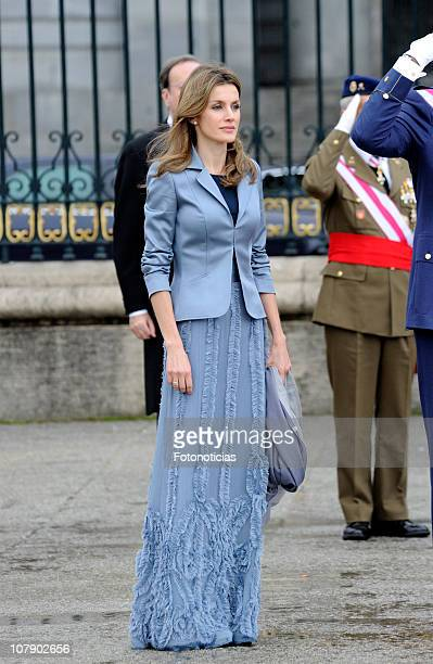 Princess Letizia of Spain attends the new year Pascua Militar ceremony at The Royal Palace on January 6, 2011 in Madrid, Spain.