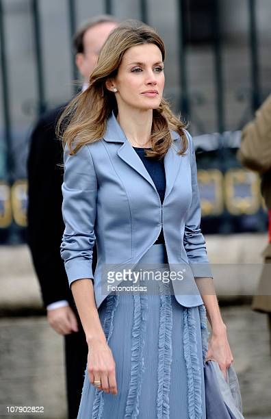 Princess Letizia of Spain attends the new year Pascua Militar ceremony at The Royal Palace on January 6 2011 in Madrid Spain