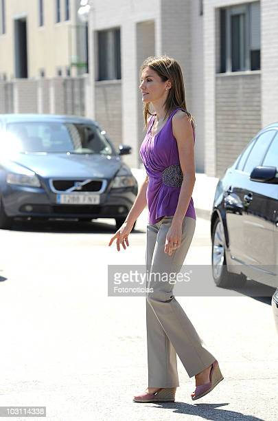 Princess Letizia of Spain attends the opening of the 'Princess Letizia' Social Center on July 27 2010 in Santander Spain