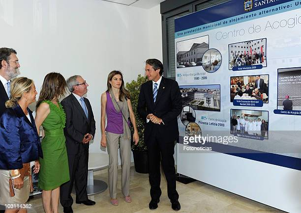 Princess Letizia of Spain attends the opening of the 'Princess Letizia' Social Center on July 27, 2010 in Santander, Spain.