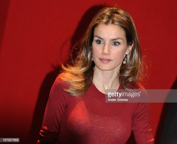 Princess Letizia of Spain attends the opening of 'Volunteering National Congress' on November 27 2012 in Bilbao Spain