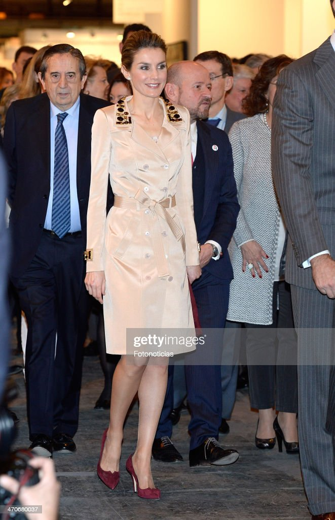 Spanish Royals Attend ARCO Contemporary Art Fair in Madrid : News Photo