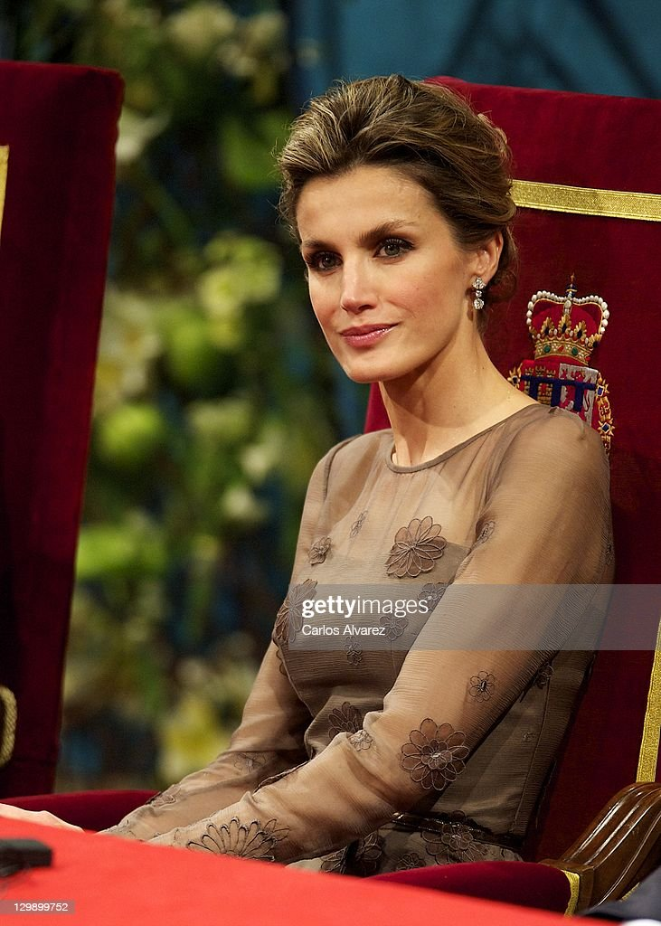 Princess Letizia of Spain attends the 'Prince of Asturias Awards 2011' ceremony at the Campoamor Theater on October 21, 2011 in Oviedo, Spain.