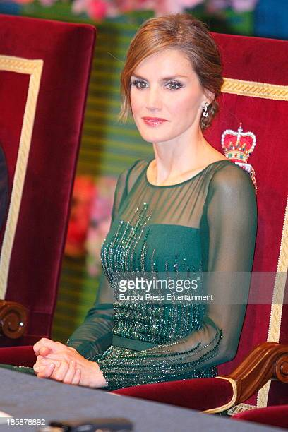 Princess Letizia of Spain attends the Prince of Asturias Awards 2013 ceremony on October 25 2013 in Oviedo Spain
