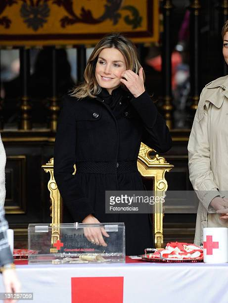 Princess Letizia of Spain attends the Red Cross Fundraising Day on November 3, 2011 in Madrid, Spain.