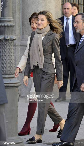 Princess Letizia of Spain attends the Red Cross Fundraising Day on October 25 2010 in Madrid Spain