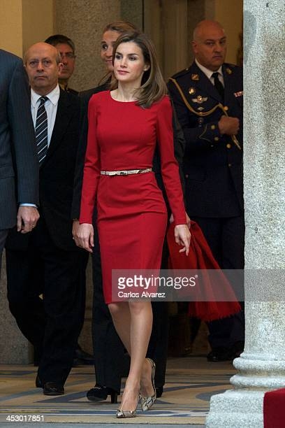 Princess Letizia of Spain attends the Spanish National Sports Awards 2013 at the El Pardo Palace on December 2, 2013 in Madrid, Spain.