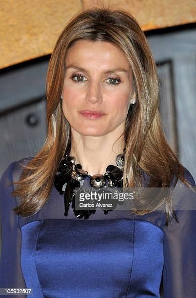 Princess Letizia of Spain attends 'XIX Musical Week' closing concert at the Auditorio Principe Felipe during the 'Prince of Asturias Awards 2010' on...
