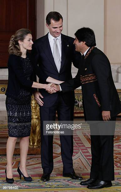Princess Letizia of Spain Prince Felipe of Spain and President of Bolivia Evo Morales attend the VI European UnionLatin America and Caribbean Summit...