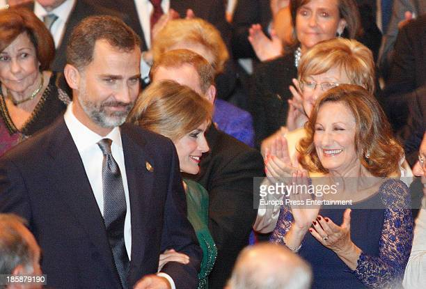 Princess Letizia of Spain Prince Felipe of Spain and Princess Letizia's mother Paloma Rocasolano attend the Prince of Asturias Awards 2013 ceremony...