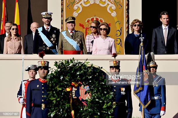 Princess Letizia of Spain, Prince Felipe of Spain, King Juan Carlos I of Spain, Queen Sofia of Spain, Princess Elena of Spain, Princess Cristina of...