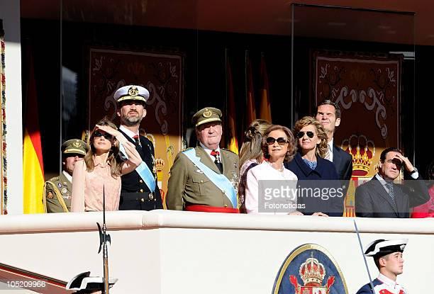 Princess Letizia of Spain Prince Felipe of Spain King Juan Carlos of Spain Princess Elena of Spain Queen Sofia of Spain Princess Cristina of Spain...
