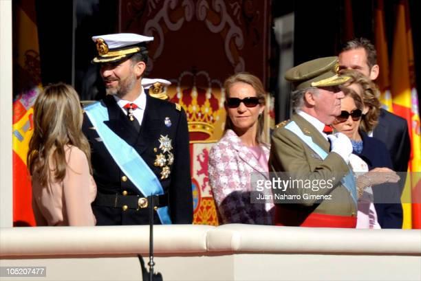 Princess Letizia of Spain Prince Felipe of Spain Princess Elena of Spain King Juan Carlos I of Spain Queen Sofia of Spain Princess Cristina of Spain...