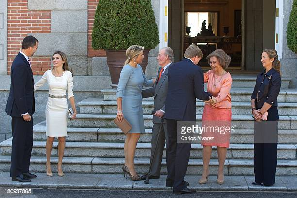 Princess Letizia of Spain Prince Felipe of Spain Queen Maxima of The Netherlands King Juan Carlos of Spain King WillemAlexander of The Netherlands...