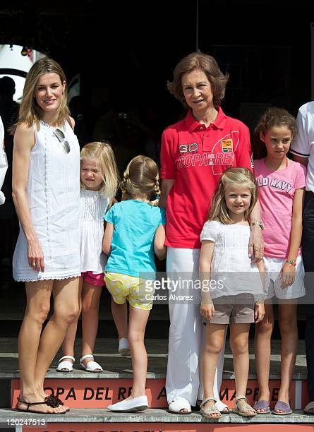Princess Letizia of Spain Princess Sofia of Spain Irene Urdangarin Queen Sofia of Spain Princess Leonor of Spain and Victoria Federica Marichalar...