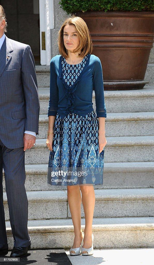 Spanish Royals Receive Prince Albert of Monaco : News Photo