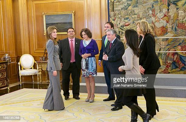 Princess Letizia of Spain receives representatives of the Federacion Espanola de Enfermedades Raras , the Federacion Espanola de Enfermedades...