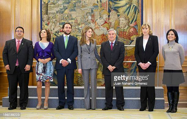 Princess Letizia of Spain receives representatives of the Federacion Espanola de Enfermedades Raras the Federacion Espanola de Enfermedades...