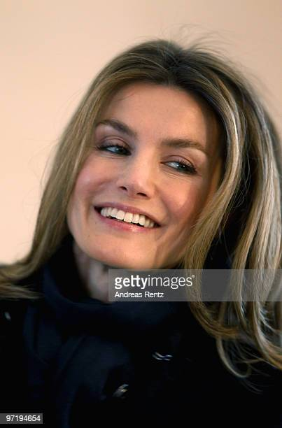 Princess Letizia of Spain smiles upon her arrival at Bellevue palace on March 1 2010 in Berlin Germany In the presence of Spanish Crown Princess...