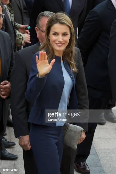 Princess Letizia of Spain visits 'Haro Luces de Modernidad' exhibition on May 16 2013 in Haro La Rioja Spain