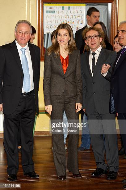 Princess Letizia of Spain visits Professional Training and High School Centers on October 16 2012 in Burgos Spain