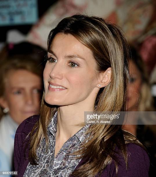 Princess Letizia of Spain visits Rastrillo Nuevo Futuro on November 23 2009 in Madrid Spain