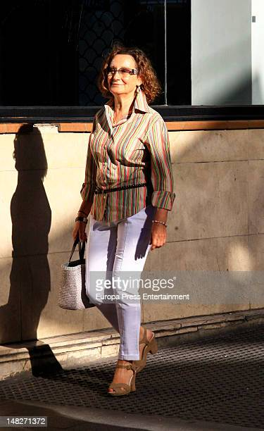 Princess Letizia of Spain´s mother Paloma Rocasolano is sighting July 13 2012 in Madrid Spain