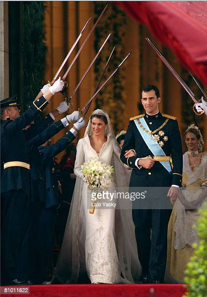 Princess Letizia Ortiz and Crown Prince Felipe
