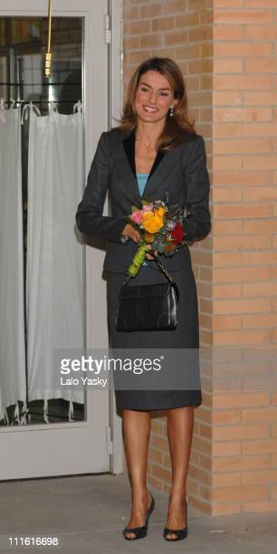 Princess Letizia Presides Over the Opening of 'Princes Of Asturias' Primary Public School in Madrid