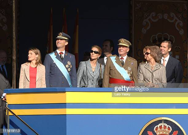 Princess Letizia Prince Felipe Elena of Spain King Juan Carlos and Queen Sofia