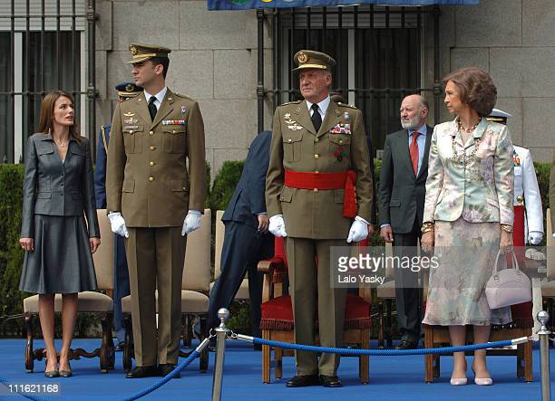 Princess Letizia Prince Felipe King Juan Carlos and Queen Sofia