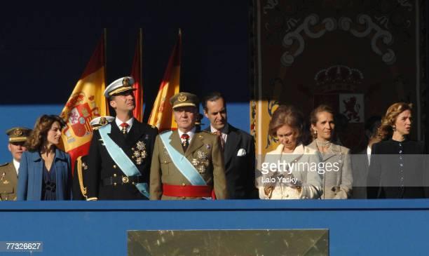 Princess Letizia Prince Felipe King Juan Carlos Jaime de Marichalar Queen Sofia Infanta Elena Infanta Cristina and Inaki Urdangarin attend Spain's...