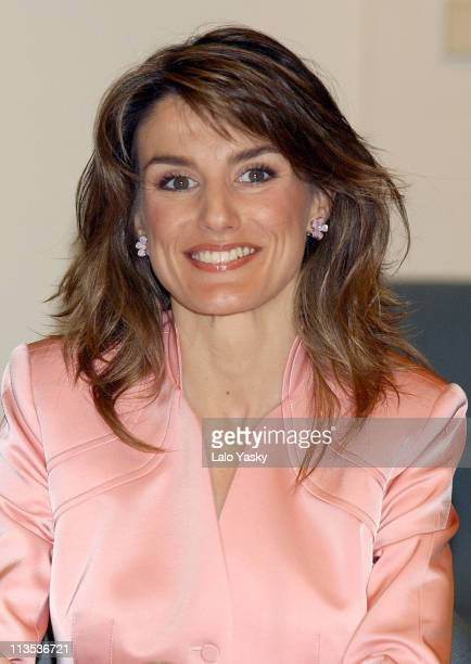 Princess Letizia visits the Tourism and Restauration School of Mallorca during the first day of her one week official visit to the Islands May 9 2005