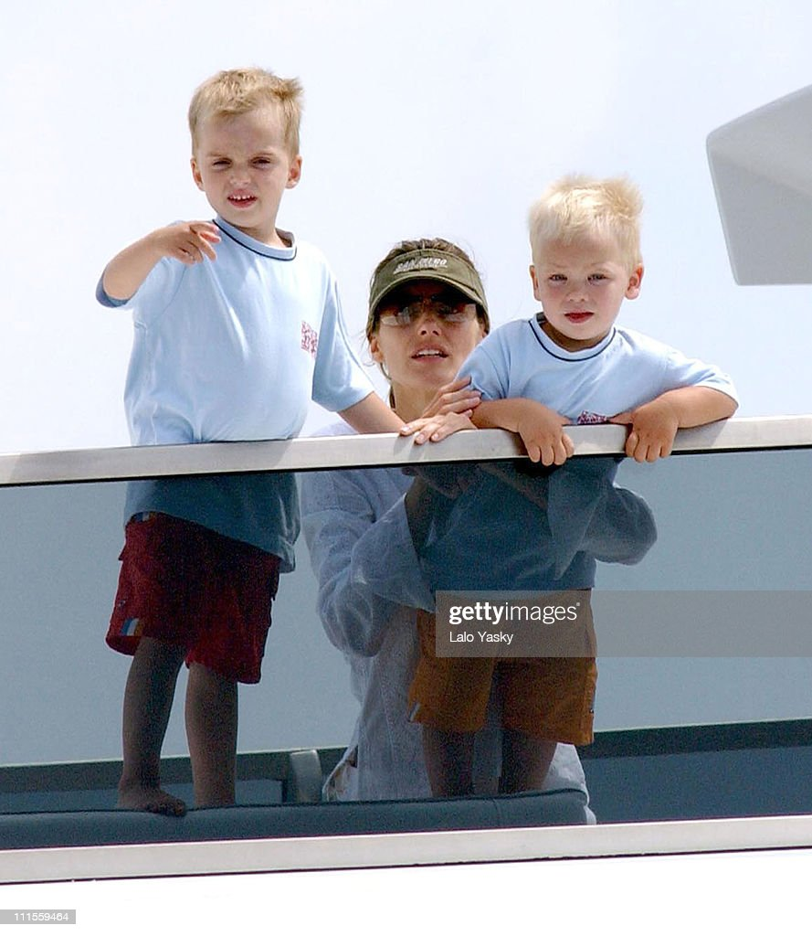 Princess Letizia With Pablo Nicolas And Juan Valentin