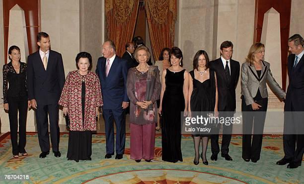 Princess LetiziaPrince Felipe Mstislav Rostropovich widow GalinaKing Juan Carlos Queen Sofia Mstislav Rostropovich daughter Olga Mstislav...