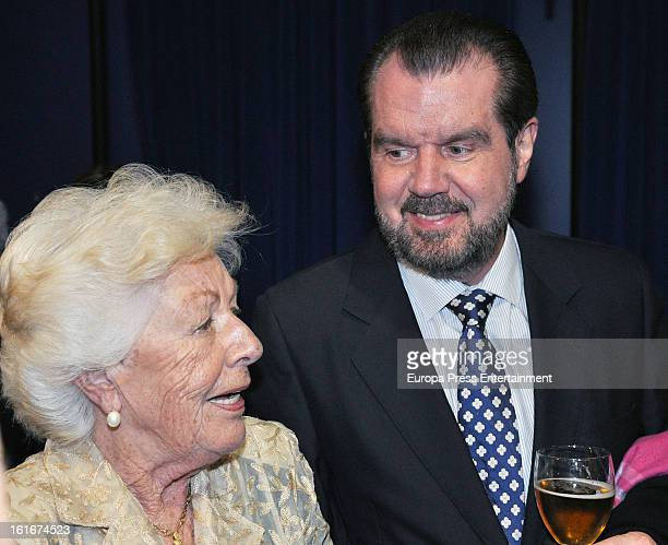 Princess Letizia's father Jesus Ortiz and grandmother Menchu Alvarez attend the National Radio Awards 2013 on February 13 2013 in Madrid Spain