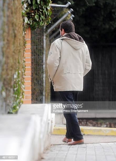 Princess Letizia's father Jesus Ortiz is seen before Prince Felipe and Princess Letizia and their daughters Princess Leonor and Princess Sofia spend...