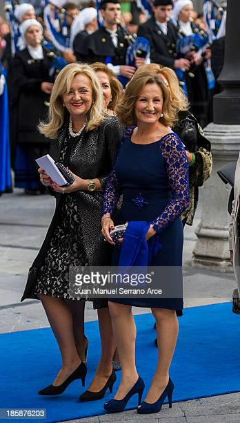 Princess Letizia's mother Paloma Rocasolano attend the 'Prince of Asturias Awards 2013' ceremony at the Campoamor Theater on October 25 2013 in...