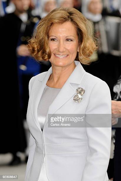 Princess Letizia's mother Paloma Rocasolano attends Prince of Asturias Awards 2009 ceremony at Campoamor Theater on October 23 2009 in Oviedo Spain