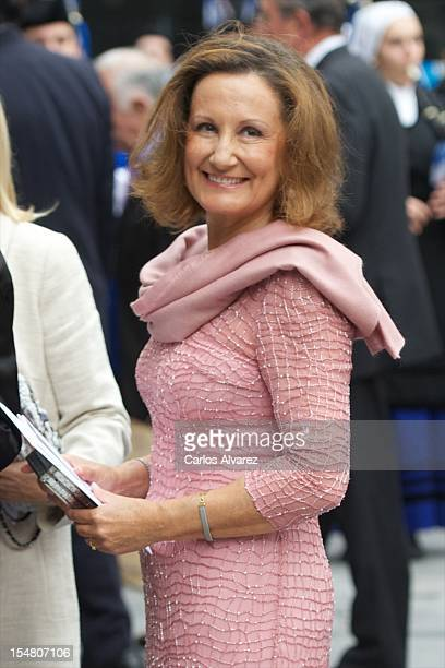 Princess Letizia's mother Paloma Rocasolano attends the Prince of Asturias Awards 2012 ceremony at the Campoamor Theater on October 26 2012 in Oviedo...