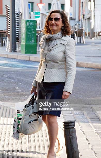 Princess Letizia's mother Paloma Rocasolano is seen sighting on April 18 2011 in Madrid Spain