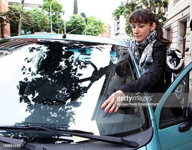 Princess Letizia's sister Telma Ortiz is fined on May 30 2013 in Barcelona Spain