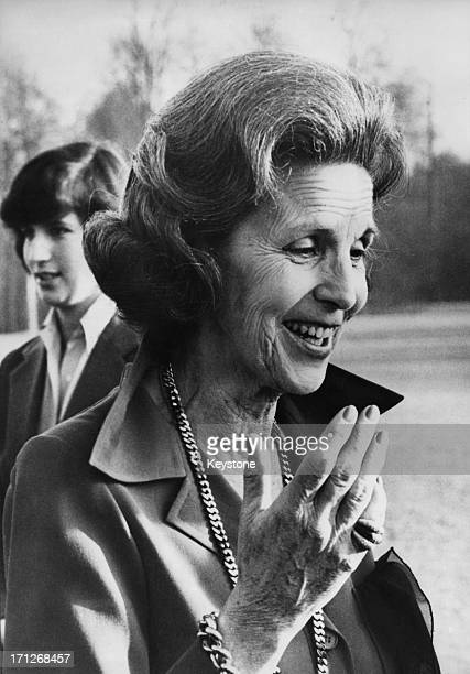 Princess Lilian of Belgium in the background is her daughter Princess MarieEsmeralda of Belgium 1979