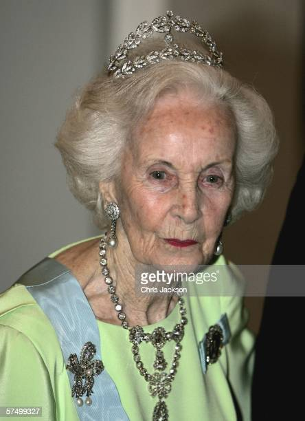 Princess Lilian of Sweden arrives for the Gala Dinner at Royal Palace to celebrate King Carl Gustaf XVI of Sweden's 60th Birthday on April 30, 2006...