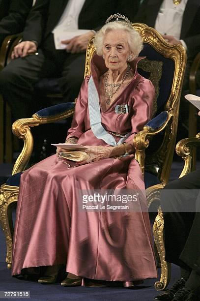 Princess Lilian of Sweden attends the Nobel Foundation Prize 2006 at the Concert Hall on December 10, 2006 in Stockholm, Sweden.