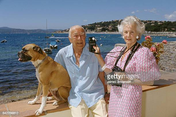 Princess Lilian of Sweden, Duchess of Halland and her husband HRH Prince Bertil, Duke of Halland on summer vacation in their Côte d'Azur home.