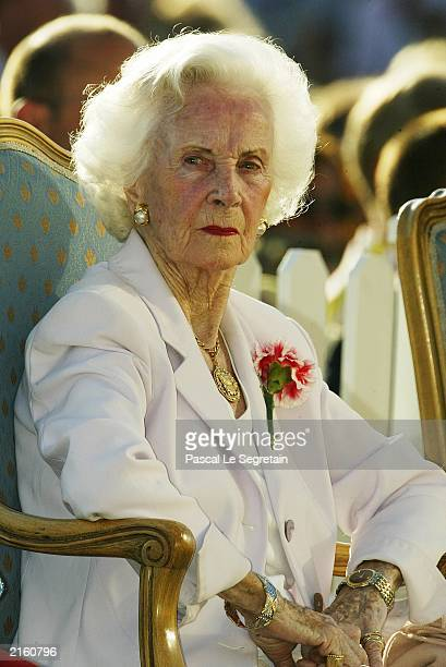 Princess Lilian of Sweden during celebrations for Crown Princess Victoria's 26th birthday on July 14, 2003 in Borgholm, Sweden.