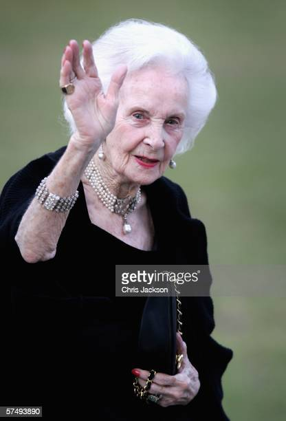 Princess Lilian of Sweden waves as she arrives for H.M. King Carl XVI Gustaf?s private dinner to celebrate his 60th Birthday at Drottningholm Palace...